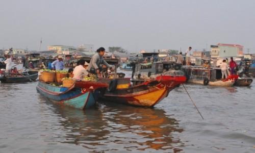 Zdjęcie WIETNAM / Delta Mekongu / Hoi An / O świcie na targu w Can Tho