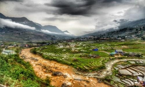 Zdjecie WIETNAM / Lao Cai / Sa Pa / Tarasy ryżowe po deszczu