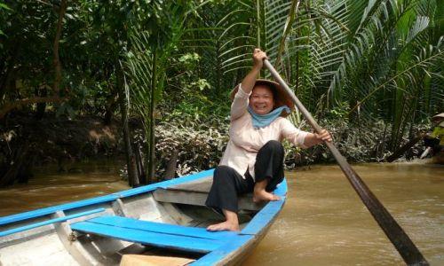 Zdjecie WIETNAM / Mekong / na rzece / W delcie Mekongu