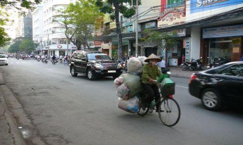 Zdjecie WIETNAM / Sajgon / ulica / najpewniejszy transport