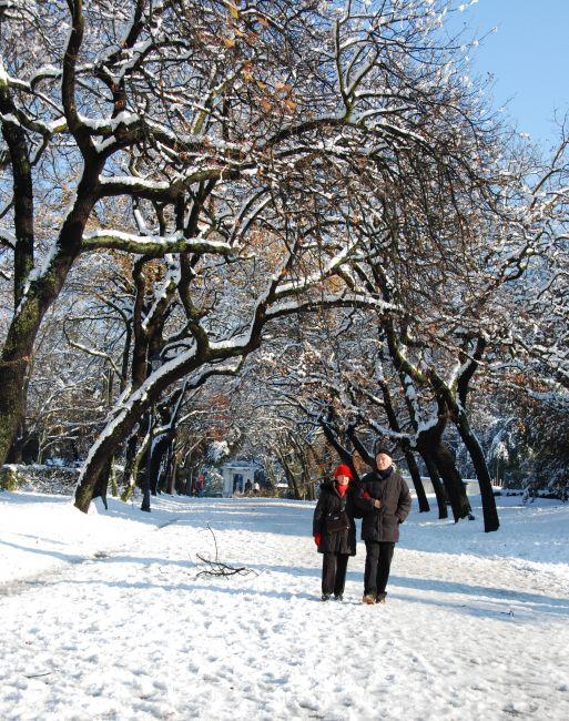 Zdjęcia: Park Villa Borghese, Rzym, Rzym pod sniegiem, WłOCHY