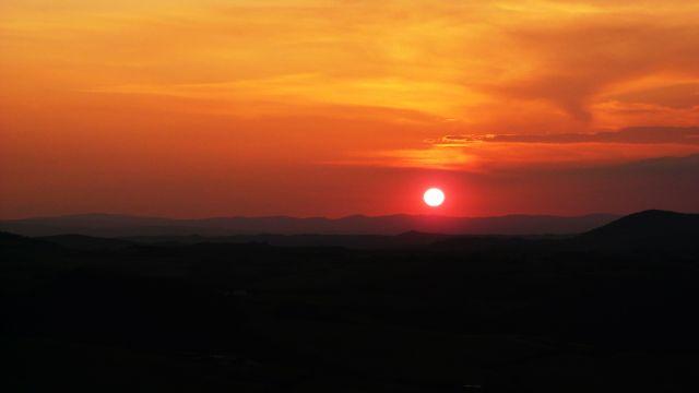 Zdjęcia: Toskania, Toskania, Zachód słońca nad Toskanią, WłOCHY