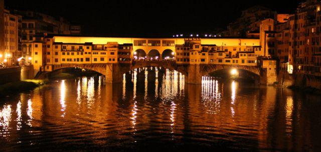 Zdjęcia: Florencja, Toskania, Ponte Vecchio... noca, WłOCHY