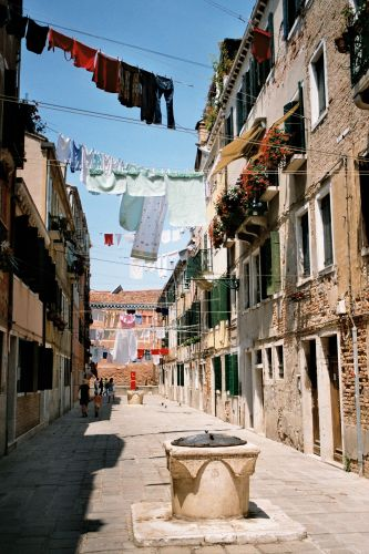 Zdj�cia: Wenecja - w dzielnicy Canareggio, Wenecja, W�OCHY