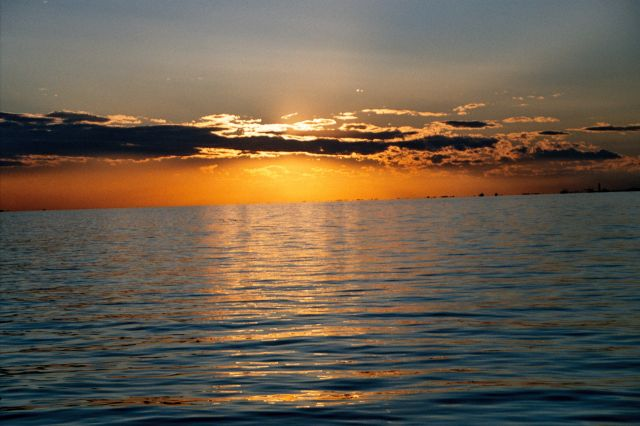 Zdjęcia: Triest - zachód słońca nad Adriatykiem, Triest, WłOCHY