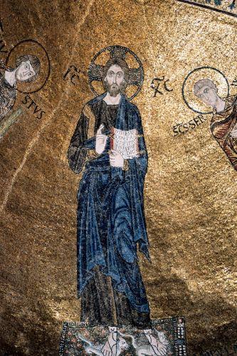 Zdjęcia: Triest - mozaika w kościele przy zamku, Triest, WłOCHY
