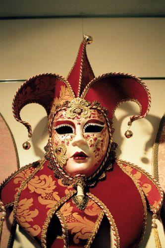 Zdj�cia: Wenecja - maska karnawa�owa, Wenecja, W�OCHY