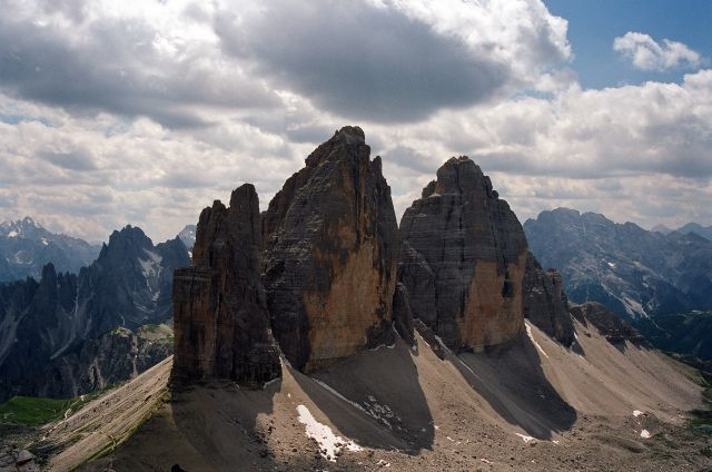 Zdj�cia: Tre Cime di Lavaredo, Dolomity di Sesto, Czy t�dy biegnie Orla Per� (2), W�OCHY