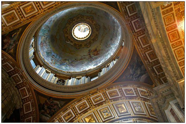 Zdjęcia: Bazylika św. Piotra, Watykan, Sklepienie Bazyliki św. Piotra, WłOCHY