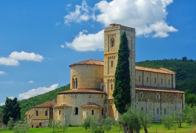 Zdjęcia: Toskania, Toskania, Abbazia di Sant Antimo, WłOCHY