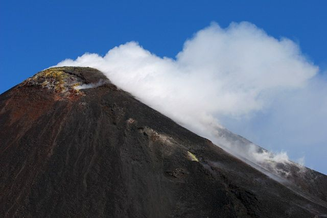 Zdj�cia: Sycylia - Etna, Etna - krater wschodni, W�OCHY