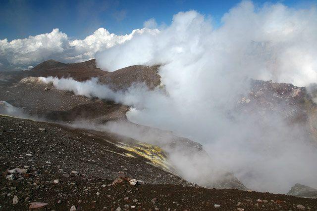 Zdjęcia: Sycylia - Etna, Etna - krater główny, WłOCHY
