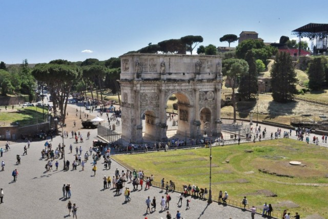 Zdjęcia: Rzym, Lazio, Rzym, łuk Konstantyna, WłOCHY