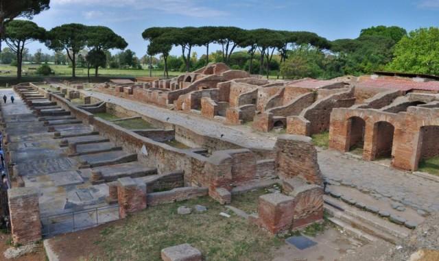 Zdjęcia: Rzym, Lazio, Ostia, antyk, portowe miasto w całości, WłOCHY
