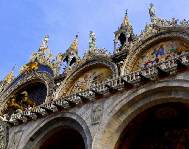 Zdjęcia: Wenecja, Wenecja Euganejska, Górna część bazyliki św. Marka w Wenecji, WłOCHY