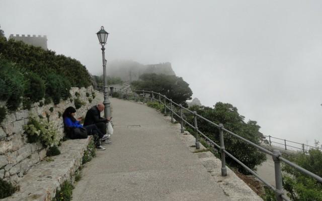 Zdjęcia: Erice., Sycylia, Z podróży po Sycylii - ericejskie mgły (3), WłOCHY