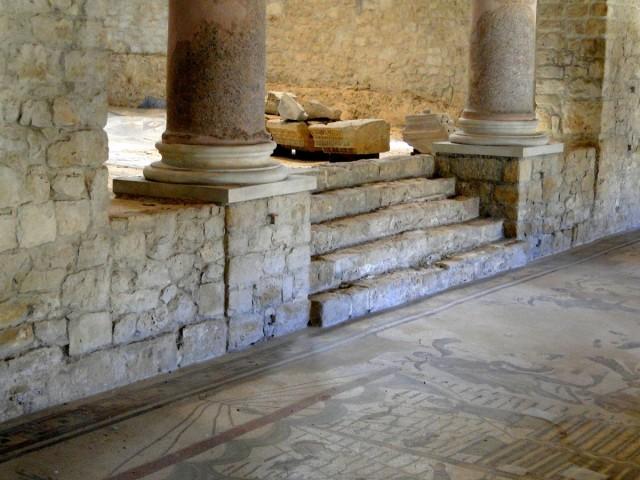 Zdjęcia: okolice Piazza Armerina, Sycylia, Z podróży po Sycylii - willa rzymska (1), WłOCHY