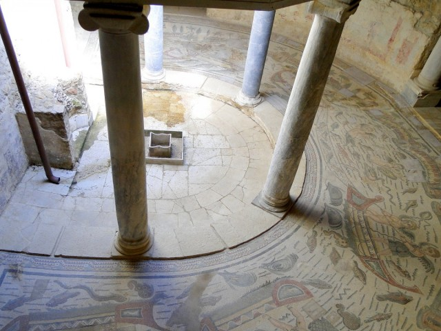 Zdjęcia: okolice Piazza Armerina, Sycylia, Z podróży po Sycylii - willa rzymska (2), WłOCHY