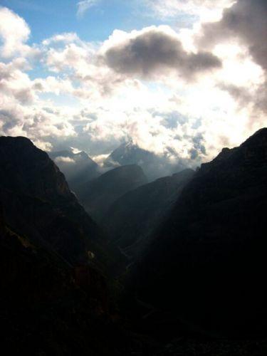Zdjęcia: Dolomity, Słoneczne promienie., WłOCHY