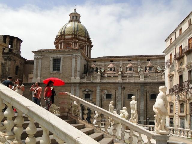 Zdjęcia: Palermo, Sycylia, Klimaty Palermo - Fontana Pretoria (2), WłOCHY