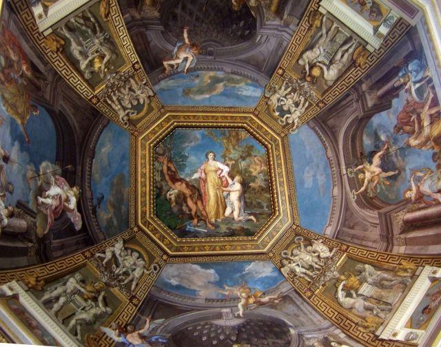 Zdjęcia: Muzeum Watykańskie, Rzym, taki sobie sufit, WłOCHY