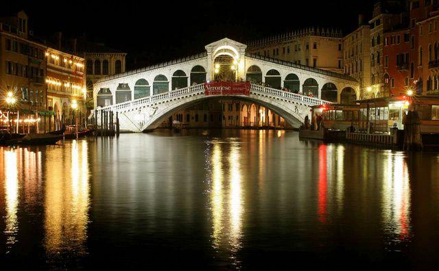 Zdjęcia: Wenecja - Most Rialto , Venice by night, WłOCHY