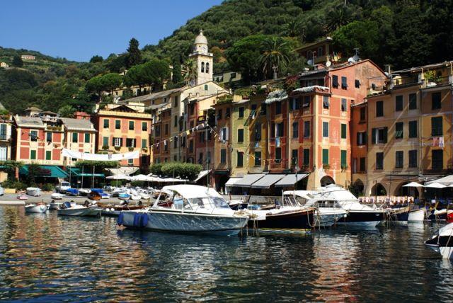 Zdj�cia: Portofino, Liguria, Port w Portofino, W�OCHY