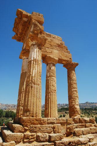 Zdjęcia: AGRIGENTO, SYCYLIA, Świątynia Castor i Pollux\'a , WłOCHY