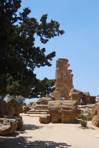 Zdj�cia: AGRIGENTO, SYCYLIA, �wiatynia Heraklesa, W�OCHY