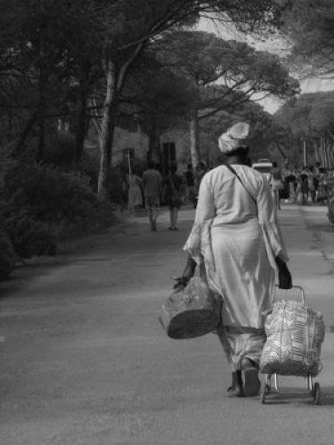 Zdjęcia: parco Naturale della MAremma, Toskania, zadhia z Senegalu konczy pracę, WłOCHY