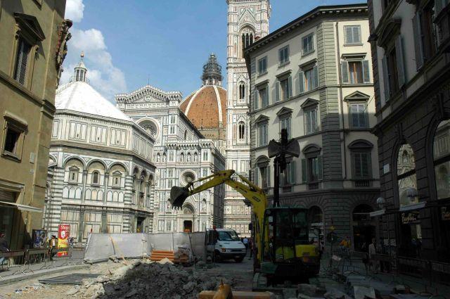 Zdj�cia: florencja, toskania, archeolodzy w pracy, W�OCHY