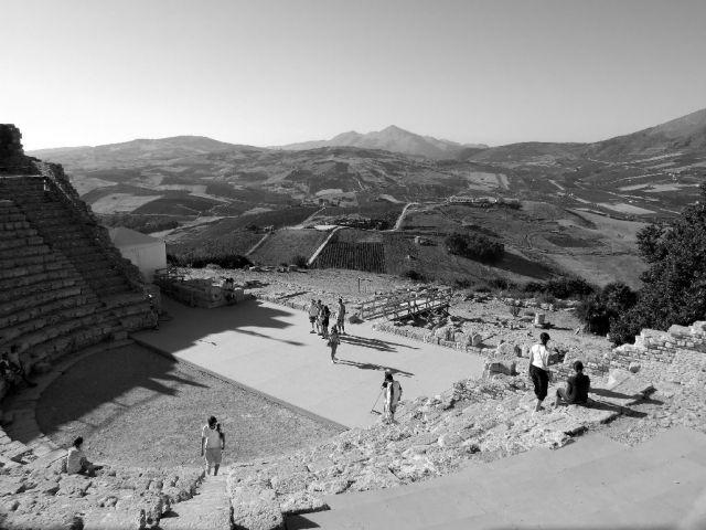 Zdjęcia: Anfiteatro di Segesta, Sycylia, Amfiteatr, WłOCHY