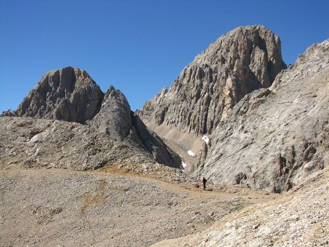 Zdjęcia: Dolomity, ., Widok z przełęczy Cirelle, WłOCHY