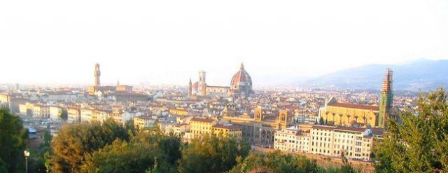 Zdjęcia: Florencja - Plac Michała Anioła, Toskania, Panorama Florencji z Placu Michała Anioła, WłOCHY