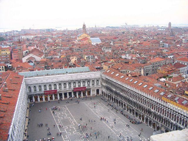Zdjęcia: Wenecja, Wenecja Euganejska [Veneto], Plac św Marka z Dzwonnicy św. Marka, WłOCHY