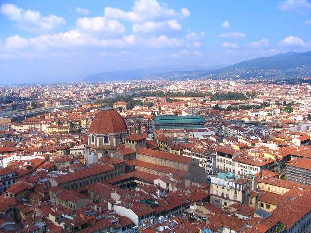Zdjęcia: Florencja, Toskania, Florencja z lotu ptaka, WłOCHY