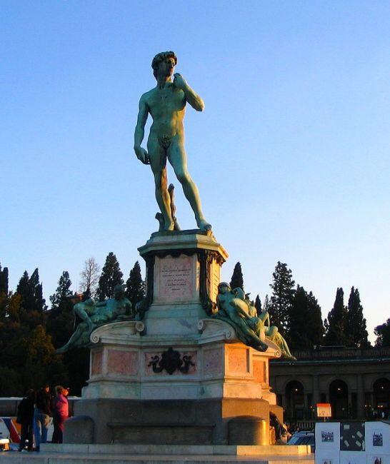 Zdjęcia: Florencja, Toskania, Posąg Dawida na Placu Michała Anioła, WłOCHY
