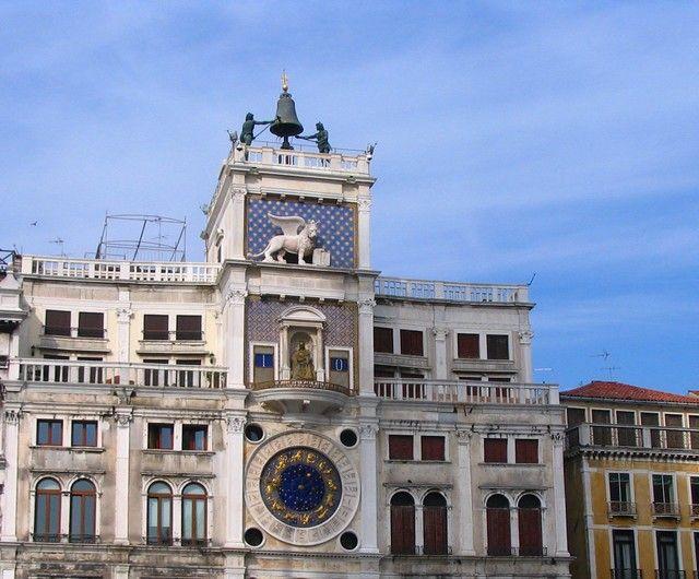 Zdjęcia: Wenecja, Veneto, Wieża zegarowa na Placu św. Marka, WłOCHY