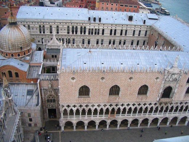Zdjęcia: Wenecja, Veneto, Pałac Dożów z dzwonnicy, WłOCHY