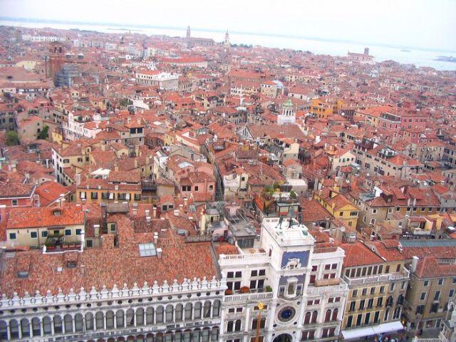 Zdjęcia: Wenecja, Veneto, plac św. Marka z Wieżą Zegarową, WłOCHY