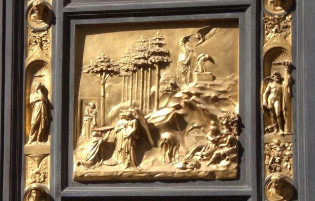 Zdjęcia: Florencja, Toskania, Fragment Złotych Drzwi, WłOCHY
