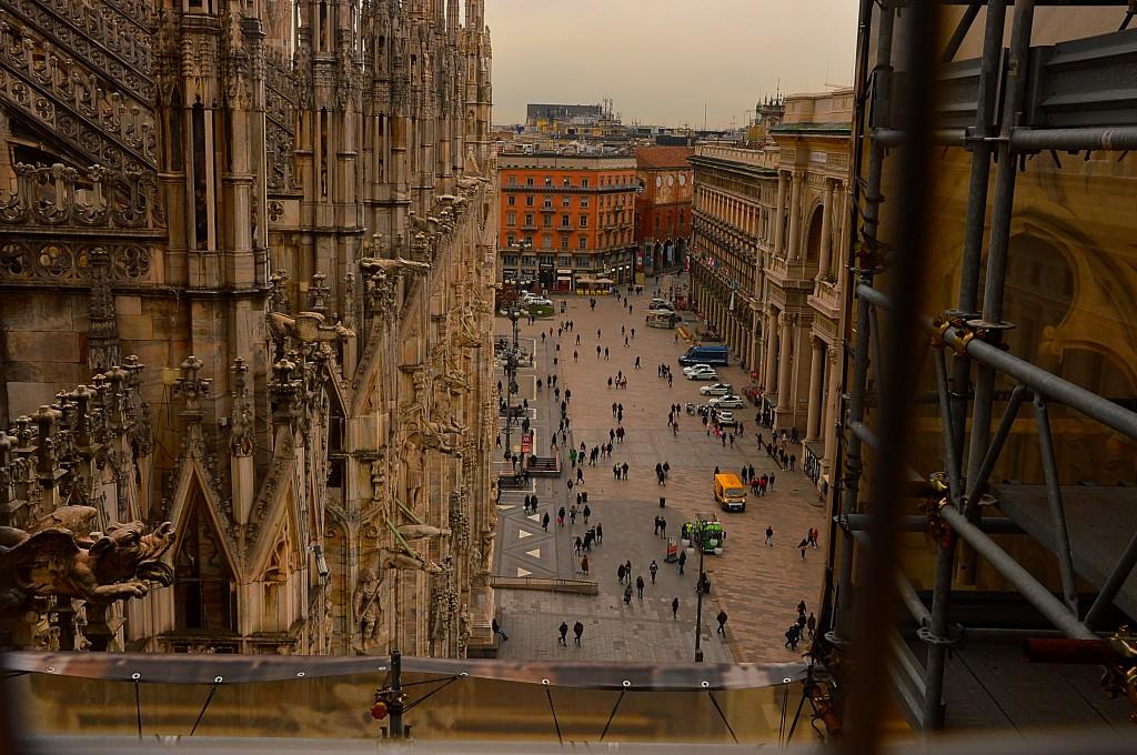 Zdjęcia: Mediolan, Włochy, Widok z katedry Duomo, WłOCHY