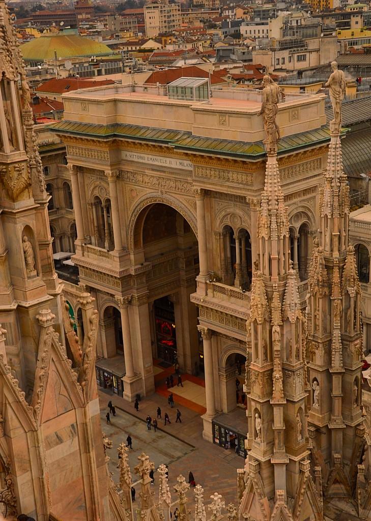 Zdjęcia: Mediolan, Włochy, Galleria Vittorio Emanuele II z góry , WłOCHY