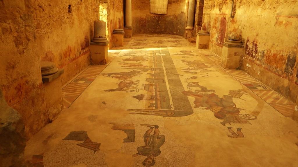 Zdjęcia: Villa del Casale, Sycylia, mozaiki, WłOCHY