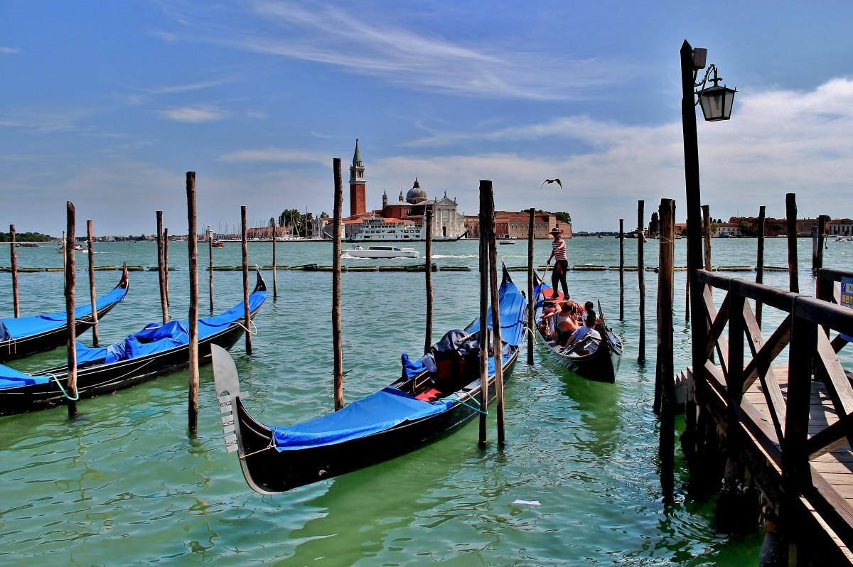 Zdjęcia: Wenecja, Wenecja Euganejska, Wenecja - gondolier, WłOCHY