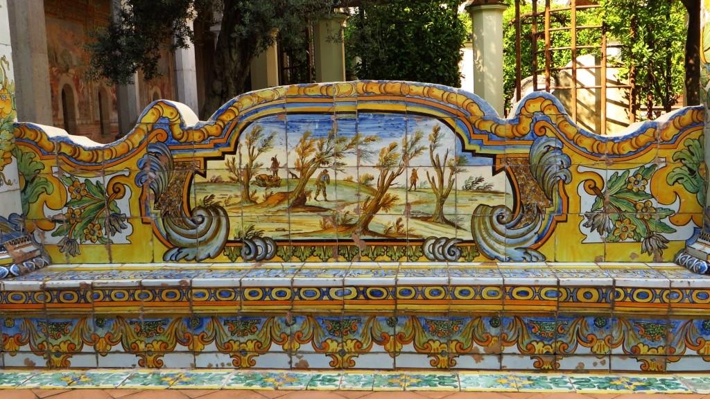 Zdjęcia: Neapol, Kampania, krużganki kościoła św. Klary, WłOCHY