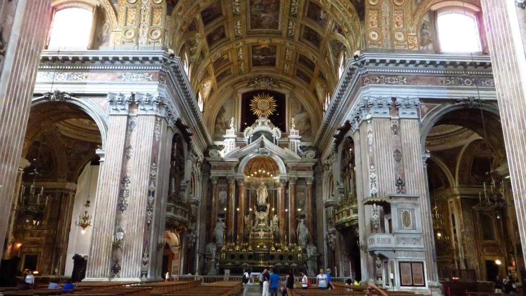 Zdjęcia: Neapol, Kampania, kościół Jezuitów, WłOCHY