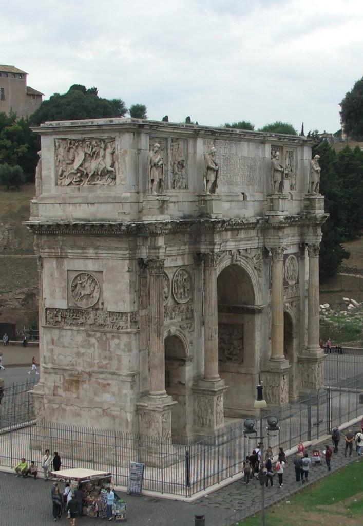 Zdjęcia: Rzym, Lacjum, Łuk Konstantyna Wielkiego, WłOCHY