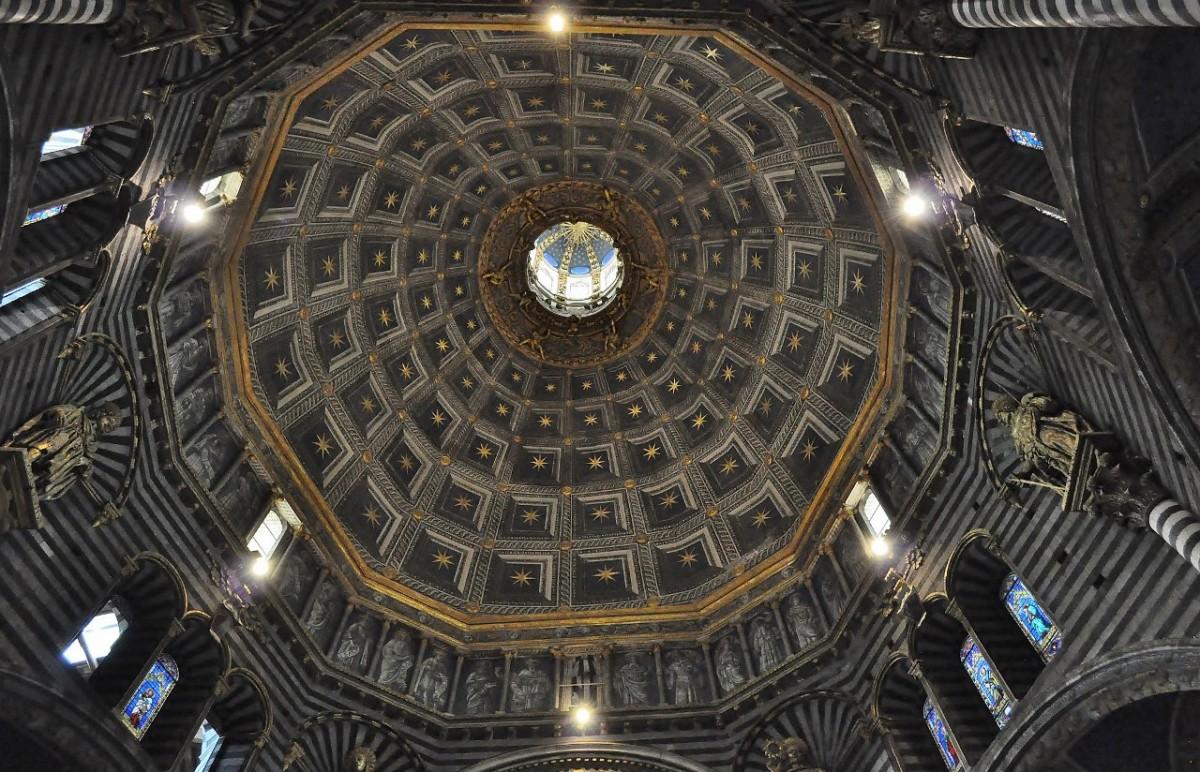 Zdjęcia: Siena, Toskania, Siena, katedra. kopuła , WłOCHY