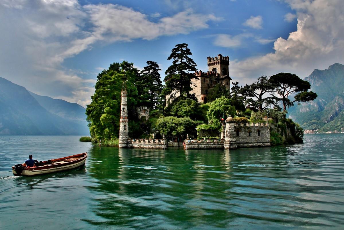 Zdjęcia: Jezioro Iseo, Lombardia, Wyspa Isola di Loreto, WłOCHY